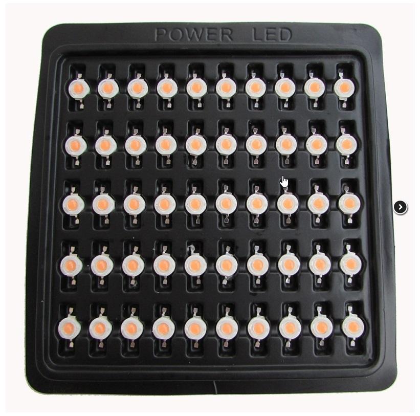 Šviesos diodas 1W 90 lm 120° X 100 vnt.