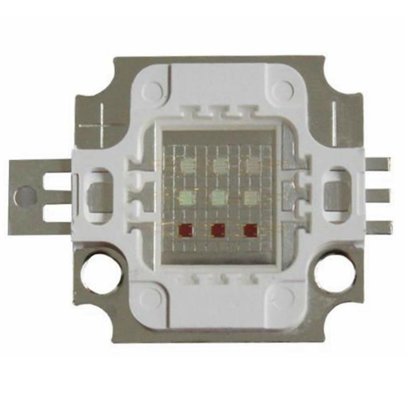 Šviesos diodas 10W, RGB 120°