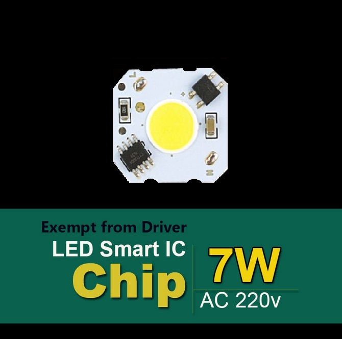 Šviesos diodas COB 7W
