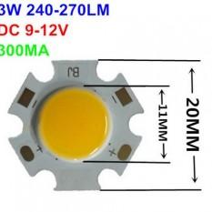 Šviesos diodas COB 3W, 20mm