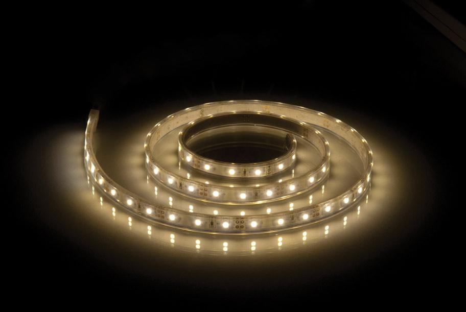 14.4W 1m LED juostelė šiltai balta šviesa