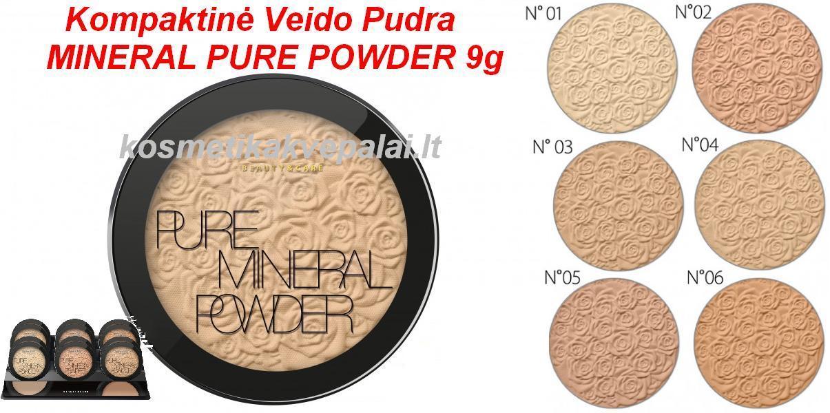 Kompaktinė Pudra MINERAL PURE 9g (6 atspalviai)
