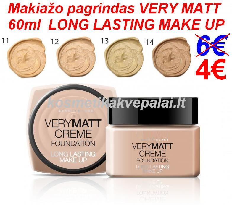 Makiažo pagrindas VERY MATT CREME FOUNDATION 60ml