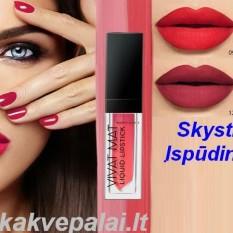 LŪPŲ DAŽAI (skysti) VIVAT MAT Liquid Lipstick 5g - 6 spalvos