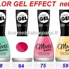 Ilgalaikis Gelinio efekto nagų lakas, kuriam nereikia UV lempos MAXI COLOR GEL EFFECT15ml