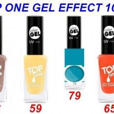 Ilgalaikis Gelinio efekto nagų lakas, kuriam nereikia UV lempos TOP ONE GEL EFFECT 10ml