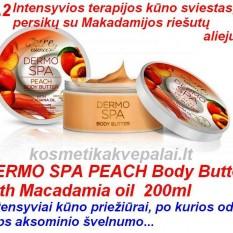 Kūno sviestas - SPA DERMO – su persikų ir Makadamijos riešutų aliejumi 200ml