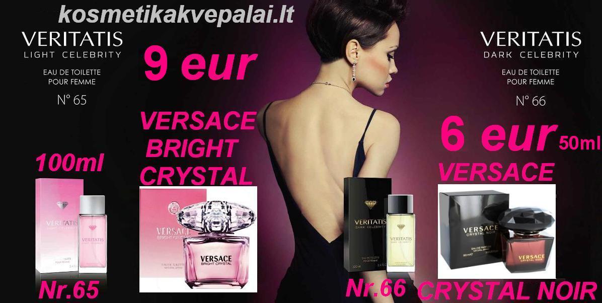 """VERSACE """"CRYSTAL NOIR"""" 100ml ir VERSACE """"Bright Crystal"""" 50ml   EDT   Kvepalai moterims (analogas)"""