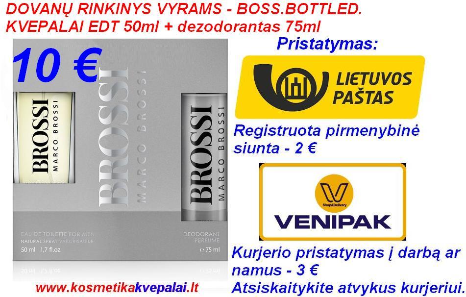 """DOVANŲ RINKINYS VYRAMS """"BOSS BOTTLED"""" 50ml Kvepalai+75ml dezodorantas (analogas)"""