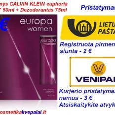 """DOVANŲ RINKINYS MOTERIMS CALVIN KLEIN """"EUPHORIA"""" 50ml Kvepalai+75ml dezodorantas (analogas)"""