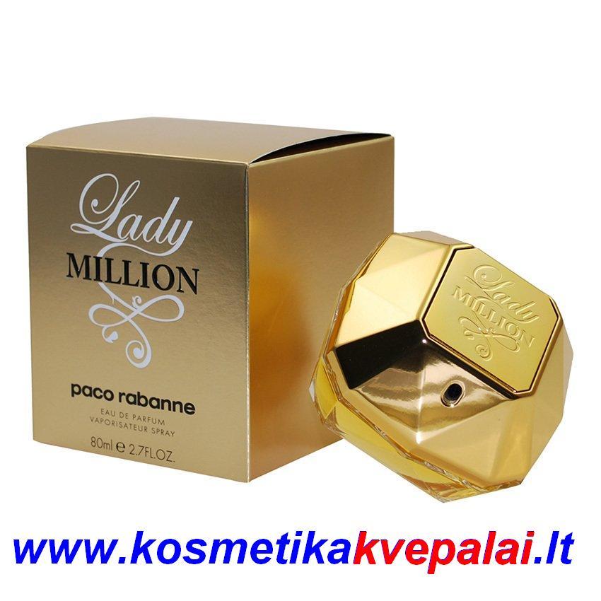 """PACO RABANNE     """"Lady MILLION """"      80 ml       EDP   Kvepalai moterims. APRAŠYMĄ RASITE PASPAUDUS ANT NUOTRAUKOS."""