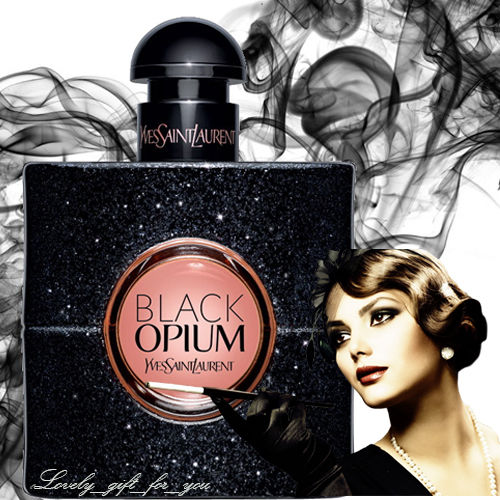 "YVES SAINT LAURENT  "" BLACK OPIUM  ""     90 ml     EDP   Kvepalai moterims"