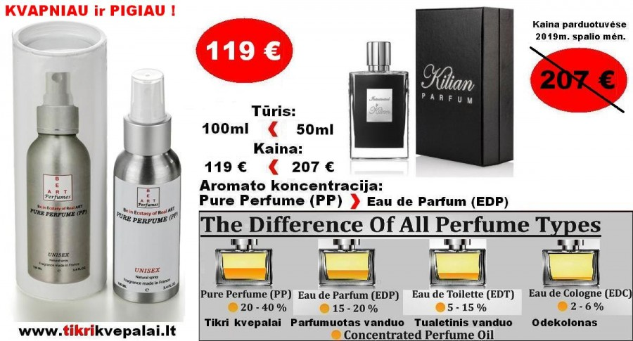 By KILIAN INTOXICATED 100ml (Parfum) Pure Perfume Nišiniai Unisex Kvepalai