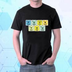 Marškinėliai Element Fluorine Uranium Carbon Potassium
