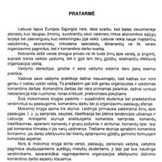 Ligita Šalkauskienė, Irina Žalienė, Linas Žalys. Komandinis darbas paslaugų sferoje