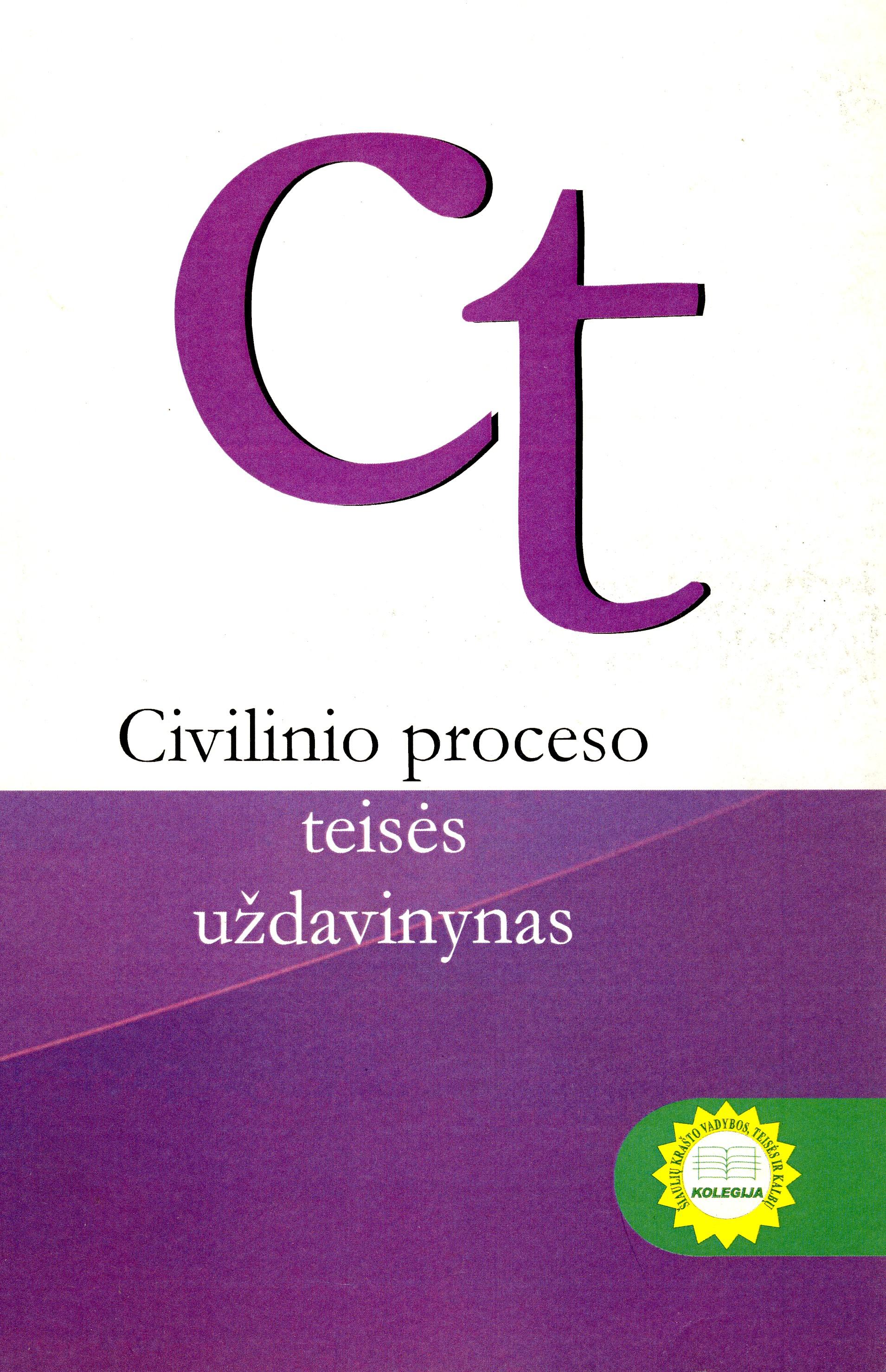Civilinio proceso teisės uždavinynas