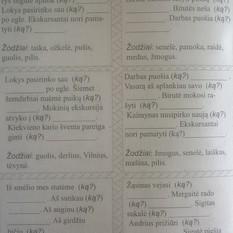 Laima Laurinaitienė. Lietuvių kalbos dalijamoji medžiaga. Pradinių klasių mokiniams