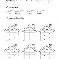 Matematikos savarankiškų darbų užduotys 2 klasei
