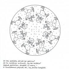 Mandalų pasaulyje. Žiemos mozaika