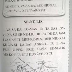 Meškiuko Tuko skaitymo knygelė. Skiemenuoti žodžiai ir tekstukai