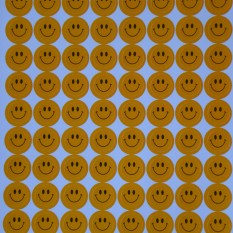Lipdukai. Oranžiniai veidukai