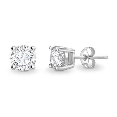 Elegantiški auskarai su deimantu