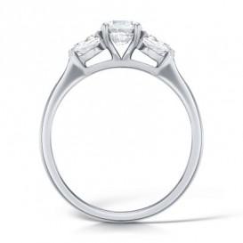 Sužadėtuvių žiedas su deimantais