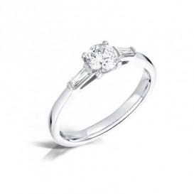 Sužadėtuvių žiedas su kokybiškais H/SI1 deimantais