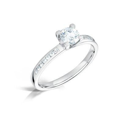 Sužadėtuvių žiedas su 15 briliantų