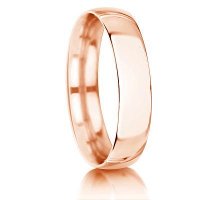 """Raudono """"rusiško"""" aukso vestuviniai žiedai."""