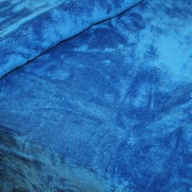 Pliušinis pledas sodriai mėlynas