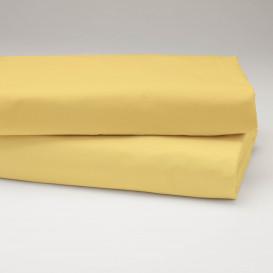 Drobinė paklodė su guma (geltona)