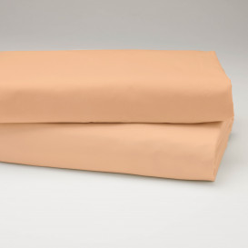Drobinė paklodė su guma (Persikinė)