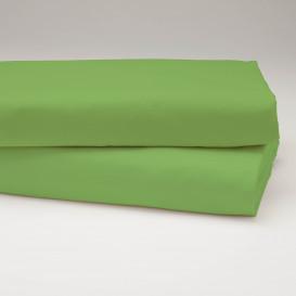 Drobinė paklodė su guma (žalia)