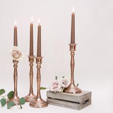 Vario spalvos (rose gold) aukšta žvakidė siaurai žvakei (Ž-26)