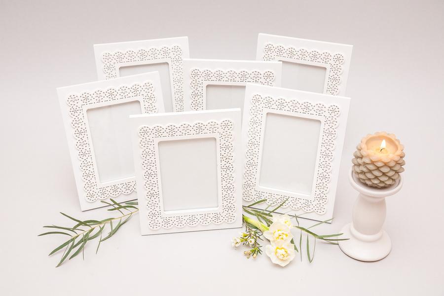 Baltas medinis rėmelis (RM-12)