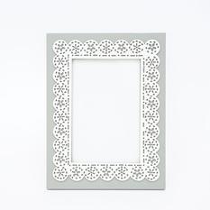 Pilkas dekoruotas rėmelis (RM-15)