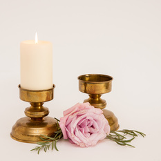 Žalvarinė žvakidė cilindrinei žvakei (Ž-13.9)