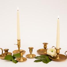 Žalvarinės žvakidės su lėkštele (Ž-13.8.)