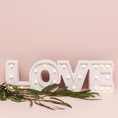 """Šviečiantis užrašas """"LOVE"""" (Už-26)"""