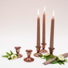 Vario spalvos žema žvakidė ilgai žvakei (Ž-24)