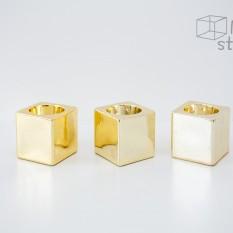 Itin blizgi aukso spalvos žvakidė (Kubas) (Ž-37)