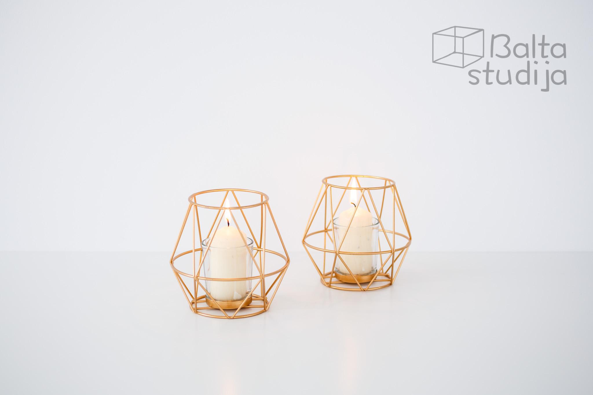 Geometrinė žvakidė arbatinei žvakei (Ž - 38)