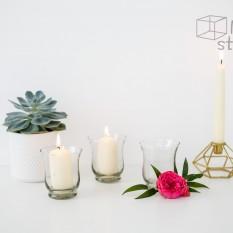 Stiklinė vazelė/žvakidė (Ž- 17)