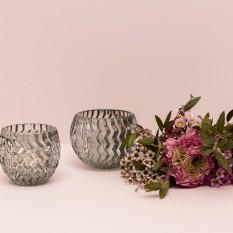 Įvairios storo stiklo žvakidės - vazelės (Ž - 42)