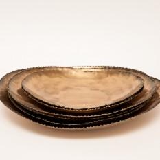 Žalvario / aukso spalvos lėkštė serviravimui (In - 8)