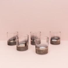 Pilka žvakidė arbatinei žvakei (Ž - 50)