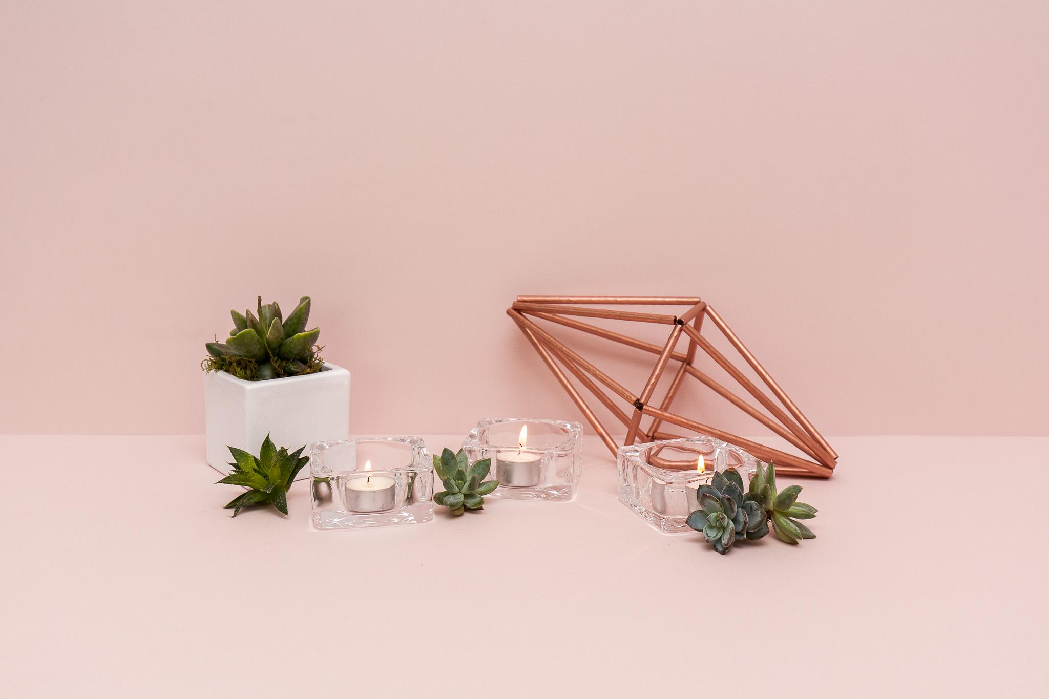 Storo stiklo padėkliukas žvakei (Ž-51)