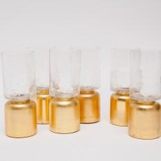 Aukso spalvos žvakidė-vazelė (Ž-28)