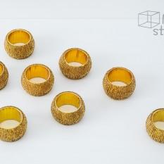 Servetėlių žiedai ( Aukso, juodos, raudonos spalvos) (In - 19)
